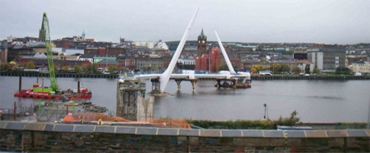 Peace Bridge in Derry Londonderry